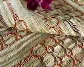 70's vintage lantern-shaped curtain fabric