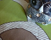 Reserved 3m for Elinor - 70's vintage brown green upholstery fabric