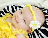 PDF Daisy Headband Crochet Pattern