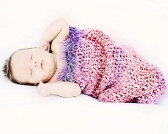 Lavender Cherry Blossom Newborn Cocoon Photo Prop
