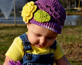 PDF Scalloped Beanie Cotton Crochet Pattern