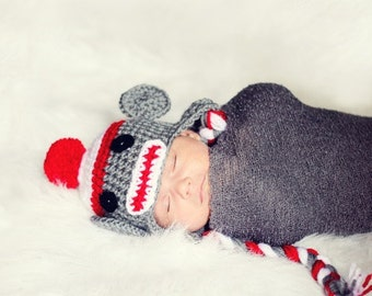 PDF Crochet Sock Monkey Hat Pattern