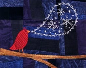 Snow's Coming embroidery pattern PDF