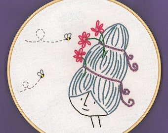 Betty's Beehive Embroidery Pattern PDF