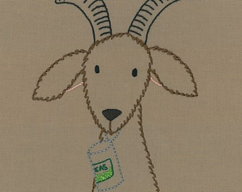 Hungry Goat embroidery pattern PDF