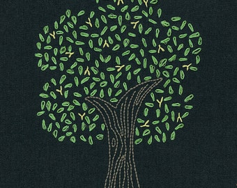 Firefly Tree embroidery pattern PDF