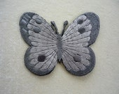 Classy Grey Cutie Butterfly Iron Patch Butterfly machine embroidered applique