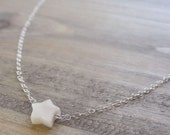Tiny star necklace -simple dainty sterling silver jewelry