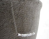 Silver necklace - little simple jewelry
