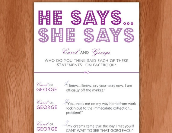 Saying And Quotes For Facebook Facebook he Says She Says