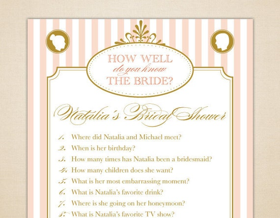 How Well Do You Know The Bride: Items Similar To Bride Trivia