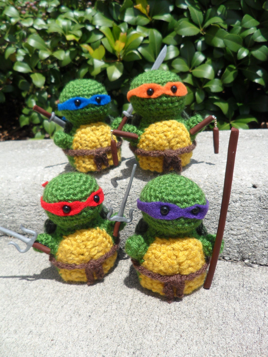 Amigurumi Ninja Turtle : Teenage Mutant Ninja Turtle Amigurumi