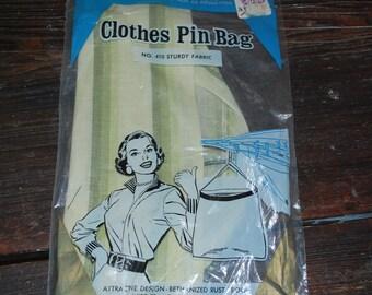 Vintage clothespin basket