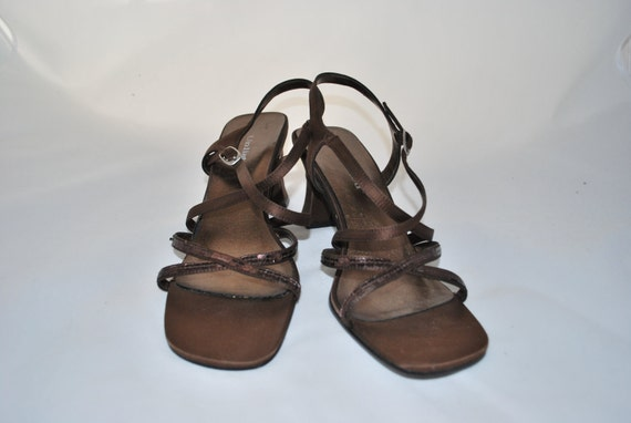 Women's Brown Sequin Dress Sandals