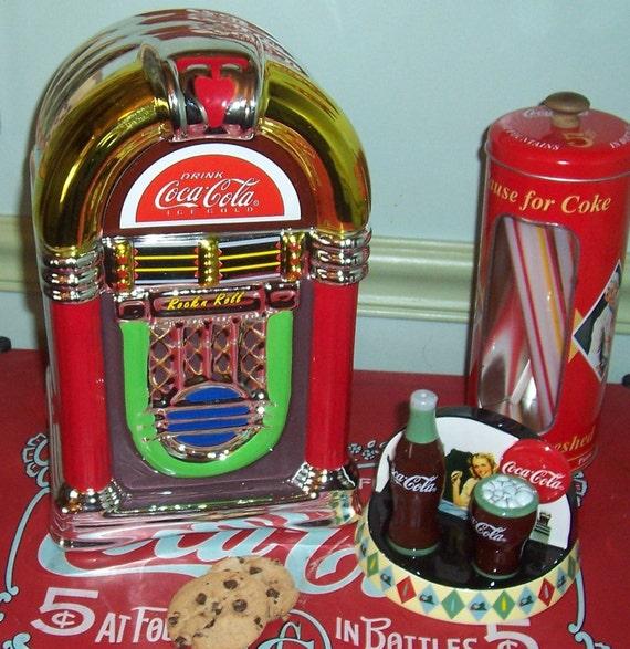 vintage coca cola jukebox cookie jar