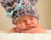 Crochet Wool Baby Hat with Pom Poms