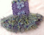 Tutu Dress Crochet Ruffled Furry Grass Hawaiian Skirt