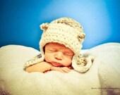 Aviator Newborn Baby Hat Crocheted