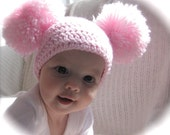 Pom Pom Hat, Photo Prop, Choose Your Size and Color