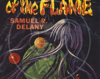 Captives of the Flame - 10x15 Giclée Canvas Print of a Vintage Pulp Paperback Cover