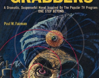 The World Grabbers - 10x17 Giclée Canvas Print of Vintage Pulp Sceince Fiction Paperback