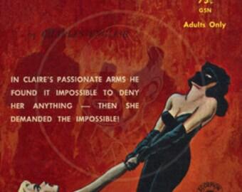 Lovers 2075 - 10x16 Giclée Canvas Print of Vintage Pulp Paperback