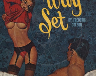 The Three Way Set - 10x16 Giclée Canvas Print of Vintage Pulp Paperback