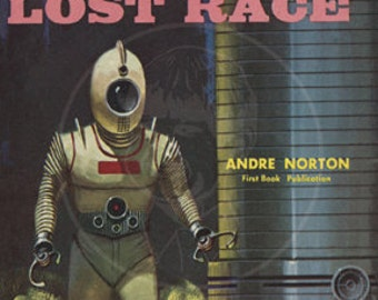 Secret of the Lost Race - 10x16 Giclée Canvas Print of Vintage Pulp Science Fiction Paperback