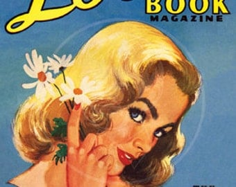 Love Book Magazine (Sept. 1954) - 10x14 Giclée Canvas Print of Vintage Pulp Romance Magazine