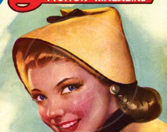 Love Fiction Magazine (May 1944) - 10x14 Giclée Canvas Print of a Vintage Pulp Romance Magazine