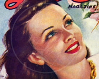 Complete Love (May 1949) - 10x14 Giclée Canvas Print of Vintage Pulp Romance Magazine