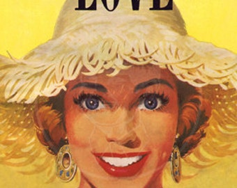 New Love Magazine (Sept. 1954) - 10x14 Giclée Canvas Print of Vintage Pulp Romance Magazine