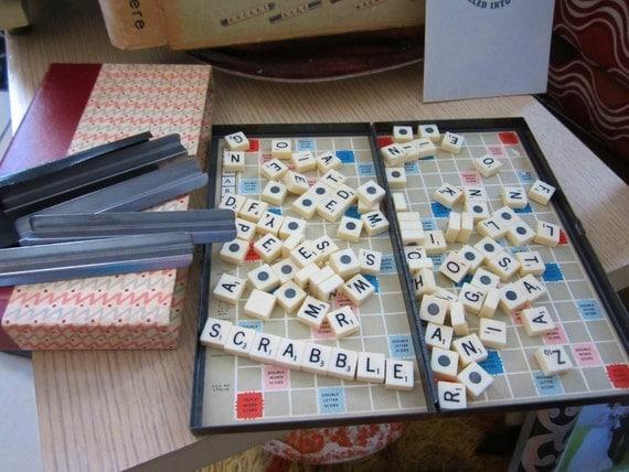Vintage Travel Scrabble 51