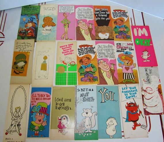 Vintage 1960s Greeting Card Lot Of 20-Humor-Adult
