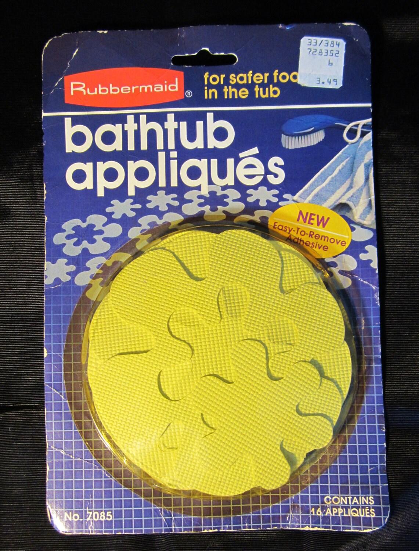 Vintage Rubbermaid Bathtub Appliques Flower Power Yellow New