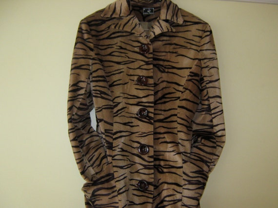 Plush Tiger Stripe Coat and Pants
