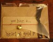 Heart of Gold...wish string bracelet