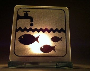 Fish in water Candle Holder / Bougeoir poissons dans l'eau