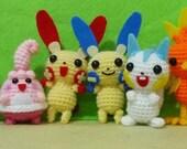 Various Crochet Amigurumi Animal ( finished doll ) 1 set