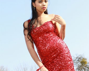 Custom Made - Sexy Party Dress - Great for Clubbing  - Hanmade Fully Sequined