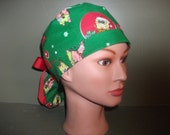 Christmas ponytail scrub cap with sponge bob