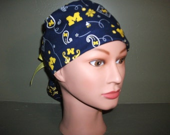 Michigan Ponytail scrub cap