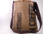 Recycled Coffee Sack Tie Bag
