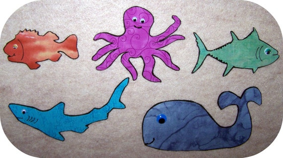 Items similar to Slippery Fish Flannel Felt Board Story on ...