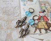 Octopus Adventurer Geek Girl Earrings