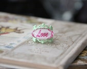 Happily Ever After Fairy Tale Book Geek Girl Ring