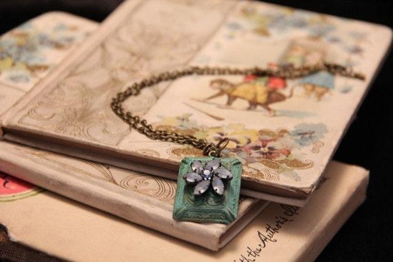 Ice Queen Frosta Fairy Tale Book Geek Girl Necklace