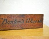 Vintage Borden's Cheese Wood Box