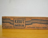 Vintage Kraft American Wood Box