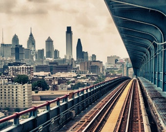 Philadelphia Train Ride Photo Digital Download